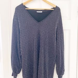 ZARA sparkly knit pants and tunic top set
